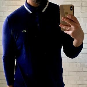Lacoste Navy Polo Size M